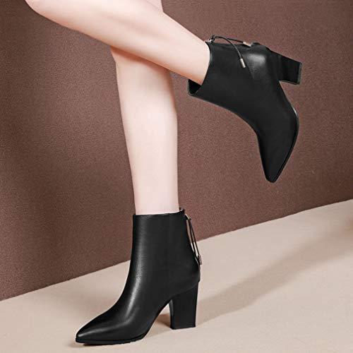 E Fiesta De Yan Un Ásperos Mujer Moda Invierno tacones Y Altos botines Zapatos Noche Puntiagudos Otoño Botas 6x55UYwq