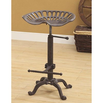 Carolina Chair and Table Adjustable Colton Tractor Seat Stool (Carolina Rustic Furniture)