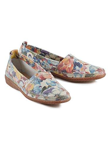 Walbusch Damen Koffer-Slipper Einfarbig Floral Multicol