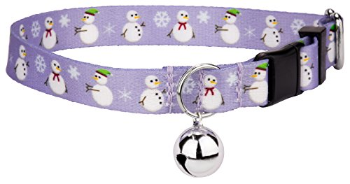 Christmas Cat Collar - Country Brook Petz Snowman Featherweight Cat Collar