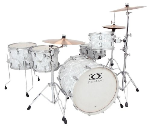 Drum Craft Series 7 DC807452 Rock Birch Drum Set Shell Pack, Liquid Chrome (Professional Drum Set)