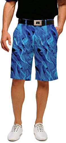 Loudmouth Golf Mens Shorts - Woodworth Collection Blow Torch - Size 38 by Loudmouth Golf