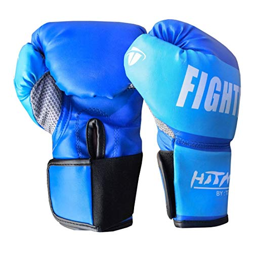 Hitman Fighter Boxing Gloves | Professional Boxing Gloves | Muay Thai Gloves | MMA Boxing Gloves for Men, Women, Children | Sparring Gloves | Great for Boxing, Punching, Muay Thai, MMA, Mitt Workout, Cage Fighting
