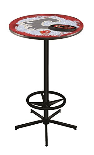 (Holland Bar Stool Co. NHL Calgary Flames Officially Licensed Pub Table, 36