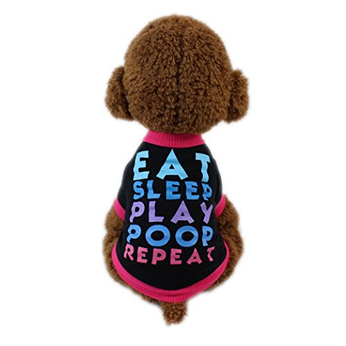 Howstar Pet Shirt, Cute Puppy Printed T-Shirt for Dog Cat Pet Clothes Spring Fashion Sweatshirts Apparel (XS)