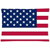 USA American Flag The Stars and Stripes Custom Zippered Bed Pillow Cases 20x30 (Twin sides) Fabric Cotton and Polyester