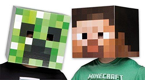 Minecraft Mask set Creeper & Steve (Notch Minecraft Costume)