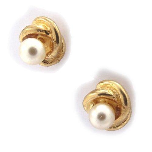 "BO Plaqué Or ""Beauty Pearls"" Blanc"