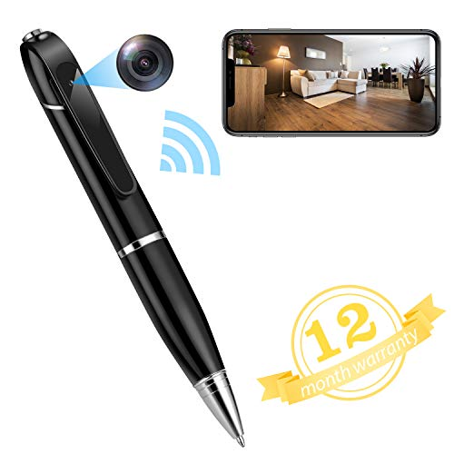 Hidden Camera Spy Camera Pen Video and Photo Pocket Cam WiFi Phone APP Control for Business Conference and Security (32GB Memory Card Included)
