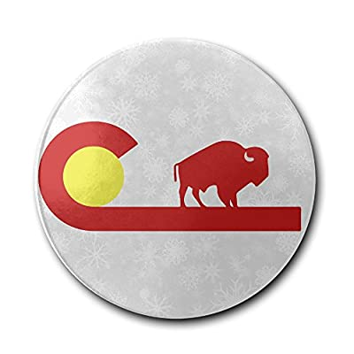 JFD Colorado Buffalo State Flag Bar Drink Ceramic Coaster Furniture