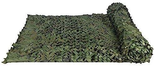 迷彩ネッティングウッドランド迷彩ネットキャンプ用軍事狩猟射撃日焼け止めネット熱絶縁屋外車の覆い庭パーゴラ屋根オックスフォード布遮光網 ZHAOFENGMING (Color : 緑, Size : 4M×8M) 緑 4M×8M