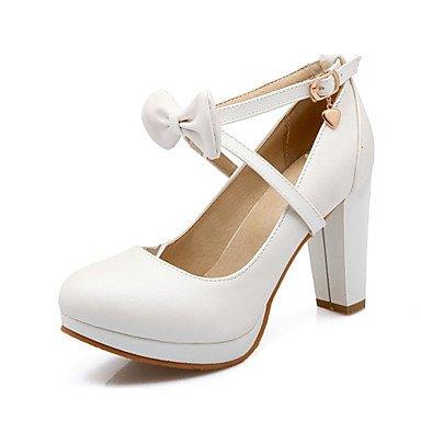 de del la y de Red Amarillo Rosa boda noche Bowknot banquete de y Talones de cuero mujeres Blanco comodidad Club de vestido las aguja tacón oficina zapatos de de carrera Spring WTqg4w