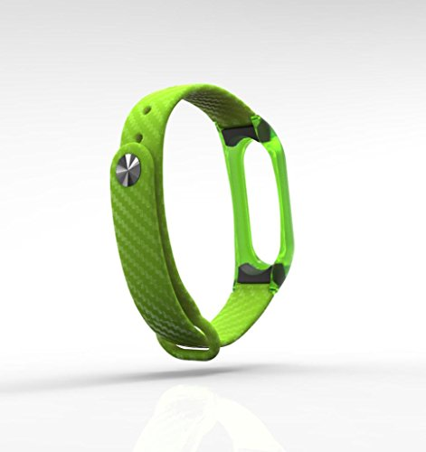 OverDose correa Xiaomi Mi Band 2 estilo de deporte transparente pulsera TPE correas para Mi Band 2 (Verde): Amazon.es: Deportes y aire libre