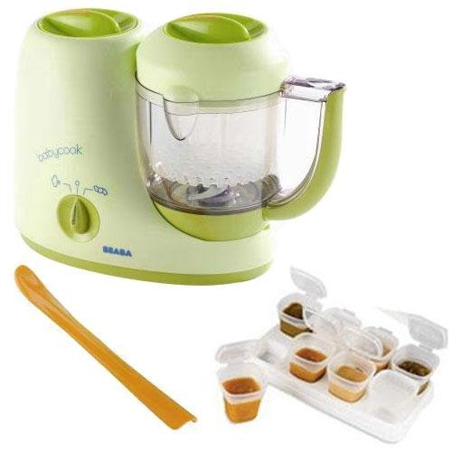 Beaba B2066KITAP1 BabyCook 4 in 1 Feed Prep - Infant Steamer And Blender