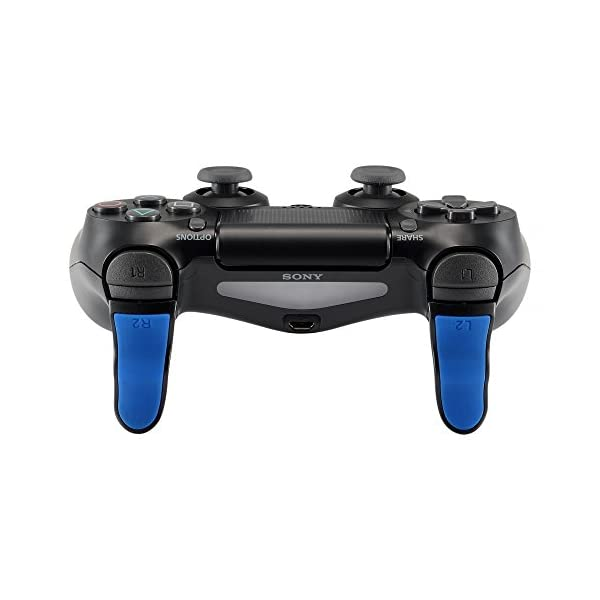 eXtremeRate L2 R2 Buttons Extention Trigger, Soft Touch Grip Extenders, Game Improvement Adjusters for Playstation 4 PS4… 5