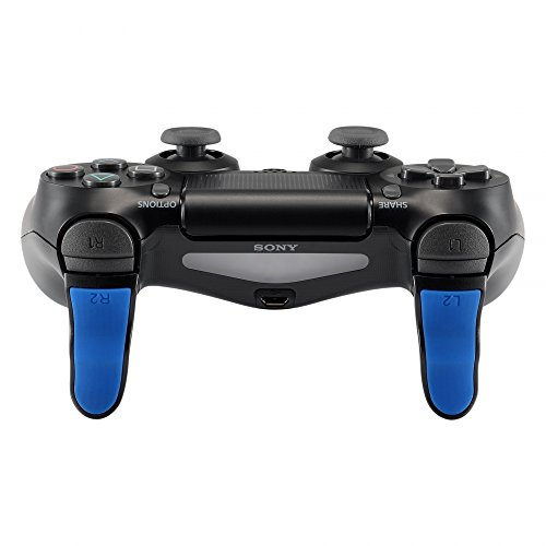 Pair Printed - 1 Pair Red Blue Black Touch Grip L2 R2 Buttons Trigger Extenders for PlayStation 4 PS4 Pro PS4 Slim Controller (Model: JDM-001 JDM-011 JDM-040 JDM-050 JDM-055)