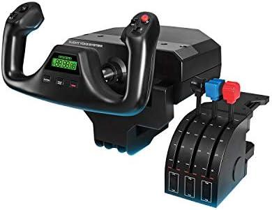 Logitech G PRO Flight Yoke System, Professional Simulation Yoke and Throttle Quadrant, 3 Modes, 75 Programmable Controls, Configurable Throttle Knobs, Steel Shaft, USB, PC – Black