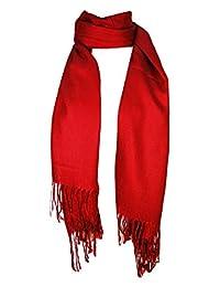 Premium Pashmina Shawl Wrap Scarf - Red