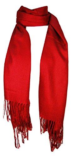 (Premium Pashmina Shawl Wrap Scarf - Red)