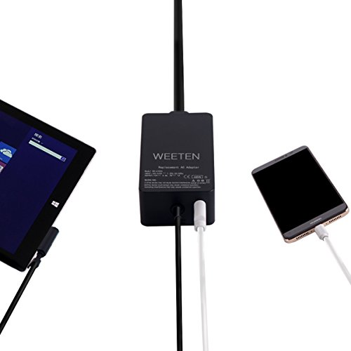 WEETEN 48W 12V 3.6A Surface Power Supply Adapter Compatible with Microsoft Surface Pro/Pro 2 and Surface RT Surface 2 Windows 8 Tablet Laptop AC Charger Replacement Cord, USB Port 5V 1A for Phone by WEETEN (Image #3)