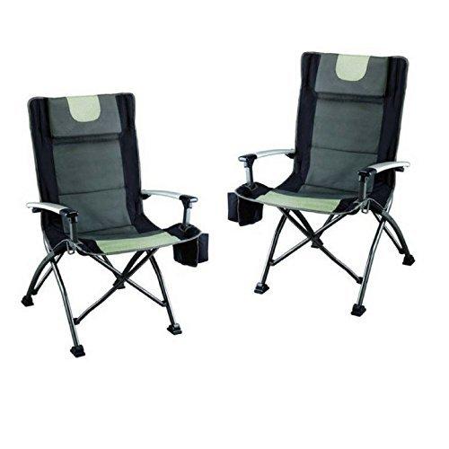 Ozark Trail High Back Chair, Ultra Durable Steel Frame (Black - Pack of (Ultra High Back Chairs)