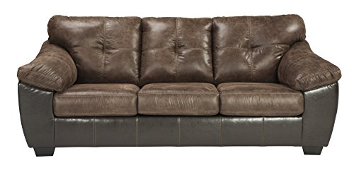 Ashley Furniture Signature Design - Gregale Queen Sofa Sleeper - Weathered - Two-Tone - Coffee