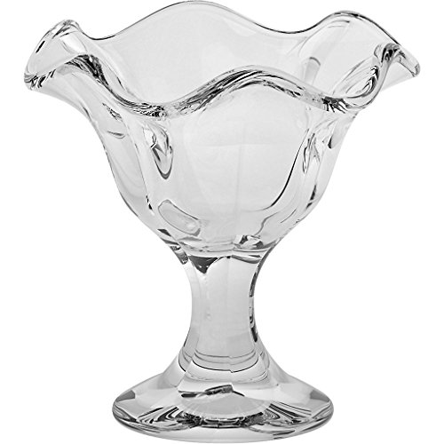 Lily Dish - CRISTALICA Ice Cream Sundae Dishes, Ice Cream Sundae Glasses, Sundae Dishes, Ice Cream Bowls, Ice Cream Cup ~LILY~ transparent, 14 cm, Glass (GELATO VERO powered by