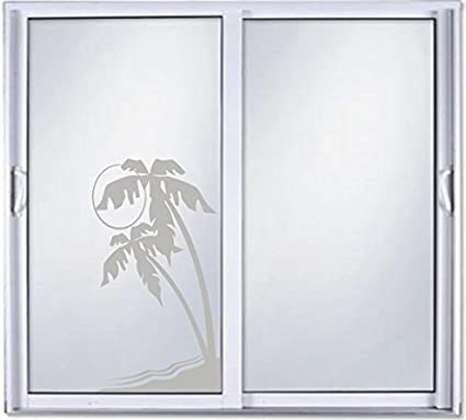 Amazon Palm Tree Diy Etched Glass Vinyl Privacy Film Glass Door