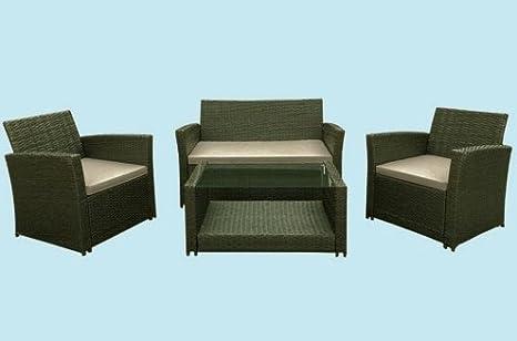 Salotto set giardino drink rattan divano poltrone con tavolo