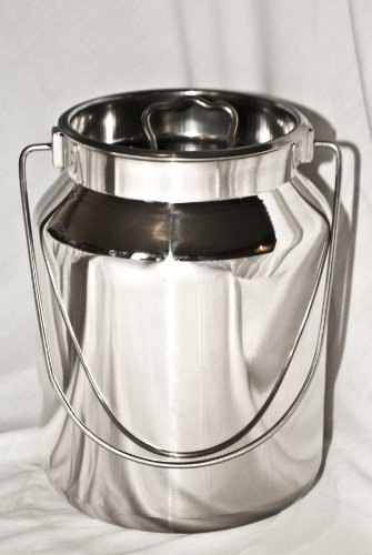 5 Qt Stainless Steel Milk Can Tote (Steel Stainless Tote)