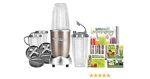 NutriBullet Pro - Extractor de nutrientes 900 W, color oro - [importado, instrucciones no en español]: Amazon.es: Hogar