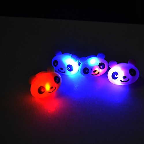 [LED Light Up Flashing Animal Party Favor Rings - Various Styles by Mammoth Sales (Panda Bears)] (Panda Costume For Sale)