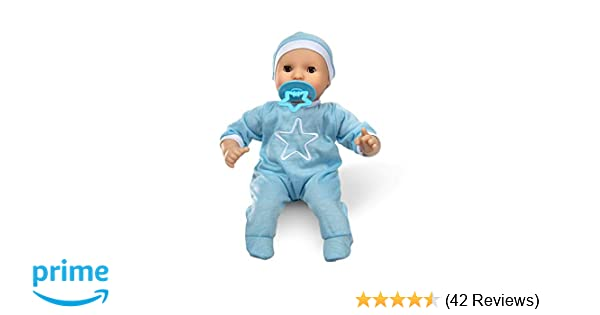 "Melissa & Doug Mine to Love Jordan 12"" Baby Doll (Includes Romper, Cap, Pacifier, Great Gift for Girls and Boys - Best for Babies, 18 Month Olds, 24 ..."