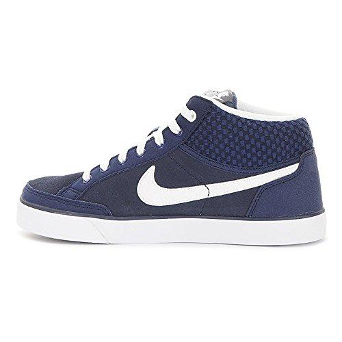 Nike Jungen Capri 3 Mid LTR (GS) Tennisschuhe Azul / Blanco (Midnight Navy / White)