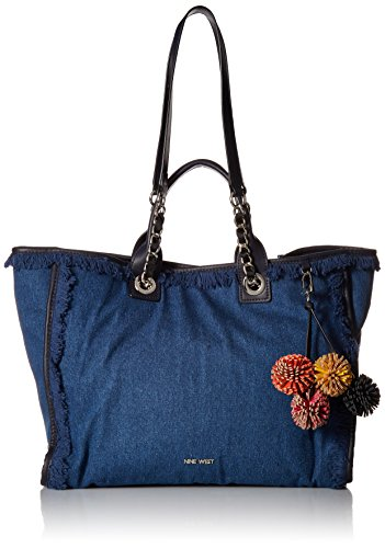 Nine West Trixie Tote with Pouch Denim, medium blue #/french navy