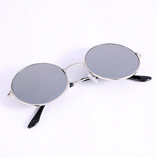 GCR Sunglasses Polarized light Shade glasses Film couleur structure métallique ronde tendances lunettes de soleil pour hommes , c5