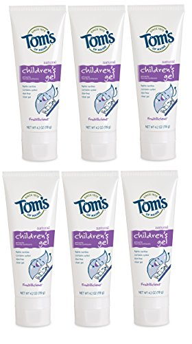 Tom's of Maine Natural Children's Fruitilicious Fluoride Anticavity Gel, 4.2 Ounce (6 - Tom Form