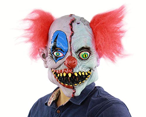(Latex Mask For Halloween, Clown Mask, Terrorist Face Clown Mask, Prank Mask Face Scary Halloween Costume Party, Bar Props,)