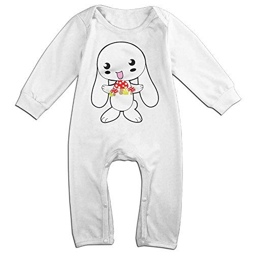 - CAPA Kid Happy Rabbit Long Sleeve Bodysuit Winter Jumpsuit White 18 Months