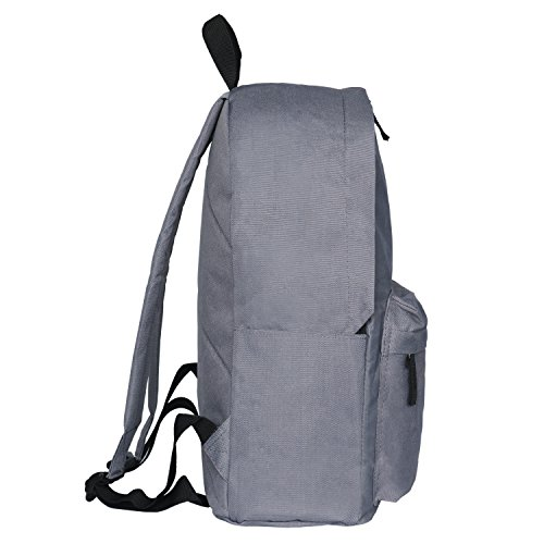 67d79538a9f Amazon.com   Amzbeauty Gray School Bags for Elementary Middle School  Students Backpack Organizer   Kids  Backpacks