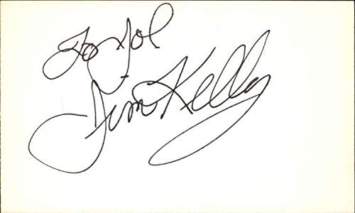 JIM KELLY d. 2013 ENTER THE DRAGON Signed 3