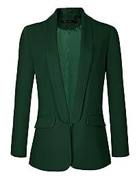 Urban CoCo Women's Formal Lapel Open Front Office Blazer Casual Suit
