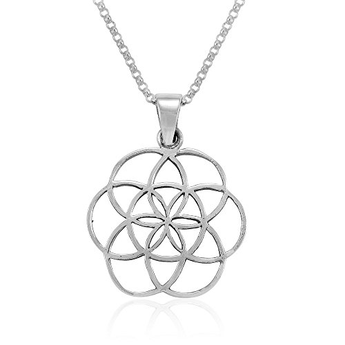 MIMI Sterling Silver Flower of Life Seed of Life...