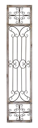 Deco 79 Metal Wood Wall Decor, 72 by 16-Inch