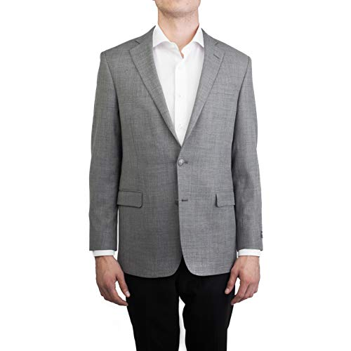Brooks Brothers Men's Two Button Wool Sport Coat Jacket Grey