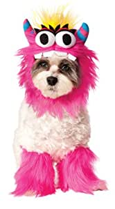 Fluffy, friendly pet monster costume includes furry collar and 2 matching leg fluffies. IMPORTANT! NOT ALL COSTUMES WILL FIT ALL PETS, consider costume style and animal shape. READ THE RUBIE'S PET SIZE CHART and WATCH THE SIZING INSTRUCTION VIDEO, do not select size based on breed. Exclusive Rubie's Pet Collection Design. Family-owned, family-focused, and based in the U.S.A. since 1950, Rubie's has classic and licensed costumes and accessories in sizes and styles for the entire family, of course they'd remember your four-legged best friend!