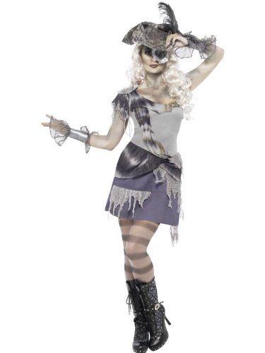 Ghost Ship Pirate Costume Ladies (Smiffy's Ghost Ship Madame Voyage Costume, Multi, Medium)