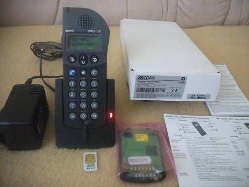 Ascom office150 ISDN – Teléfono Fijo Inalámbrico + con todo + SIM Card + 1 Batería: Amazon.es: Oficina y papelería