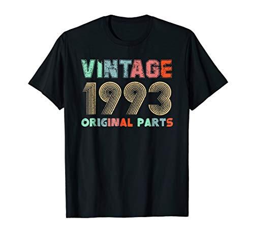 Vintage Tee Born in 1993 Retro 26th Birthday Gift Men Women ()