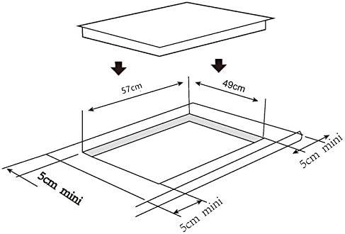 K/&H/® Piano cottura a induzione a 4 zone 59 cm IN-6804
